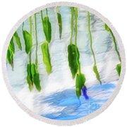 Zen Reflection Round Beach Towel