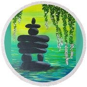 Zen Time Round Beach Towel