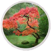 Zen Tree Round Beach Towel