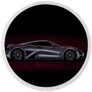 Zenvo St1 2009 Painting Round Beach Towel