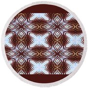 Zeroing In On The Color Blue Round Beach Towel