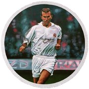 6f93bf79f Zidane At Real Madrid Painting Art Print by Paul Meijering