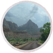 Zion National Park 1 Round Beach Towel