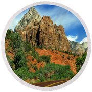 Zion National Park Utah Round Beach Towel