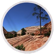 Zion Park Colors And Texture Round Beach Towel