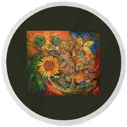 Zodiac Round Beach Towel