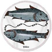 Zodiac: Pisces, 1482 Round Beach Towel