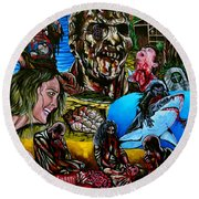 Zombi 2 Round Beach Towel