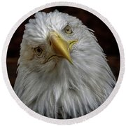 Zombie Eagle Look Round Beach Towel