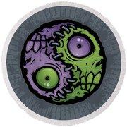 Zombie Yin-yang Round Beach Towel by John Schwegel