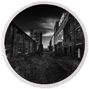 Zombieland The Fort William Starch Company Round Beach Towel