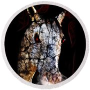 Zombified Horse Round Beach Towel