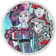 Zoni.girl Haute Couture Round Beach Towel