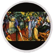 Zoological Garden Round Beach Towel