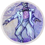 Zoot Suit Round Beach Towel