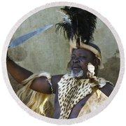 Zulu Pride Round Beach Towel