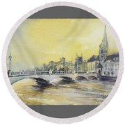 Zurich Sunset- Switzerland Round Beach Towel