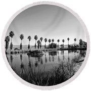 Zyzzx Lake Two Round Beach Towel