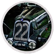 1930's Talbot Lago T23 Race Car Round Beach Towel