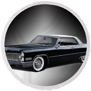 1966 Cadillac Coupe Deville Round Beach Towel