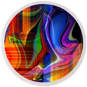 Abstract #35 Round Beach Towel