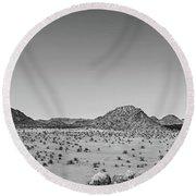 African Desert Panorama Round Beach Towel