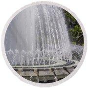 Arthur J. Will Memorial Fountain At Grand Park Round Beach Towel