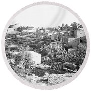 Bethlehem 19th Century Round Beach Towel