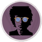Blowin In The Wind Bob Dylan Round Beach Towel