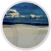 Blue Skies Round Beach Towel