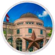 Bullock Texas State History Museum Round Beach Towel