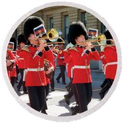 Changing Of The Guard In Ottawa Ontario Canada Round Beach Towel