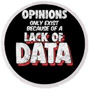 Computer Data Science Big Data Geek Pun Apparel Round Beach Towel