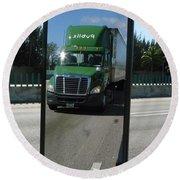 Green Freightliner Publix Round Beach Towel