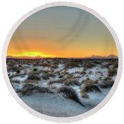 Desert Sunset Round Beach Towel