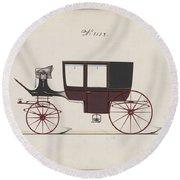 Design For Glass Panel Coach, No. 3132 1875 Round Beach Towel
