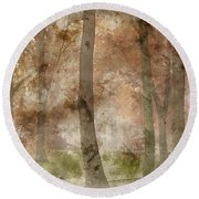 Digital Watercolor Painting Of Stunning Colorful Moody Vibrant A Round Beach Towel