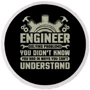 Engineer Problem Solver Engineering Career Round Beach Towel