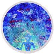 Enlightenment Blue Round Beach Towel