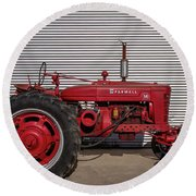 Farmall M And Steel Round Beach Towel