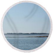 Fog Over Southern Maine Round Beach Towel