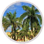 Glorious Palms Round Beach Towel