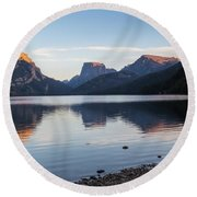 Green River Lake Round Beach Towel by Michael Chatt