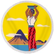 Guatemala Round Beach Towel