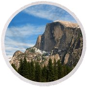 Half Dome, Yosemite National Park Round Beach Towel