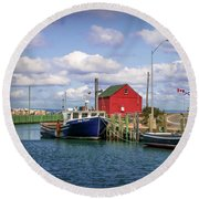 Hall's Harbour 01 Round Beach Towel