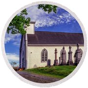 Holy Cross Cemetery And Our Lady Of Sorrows Chapel Round Beach Towel
