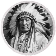 Indian Chief Round Beach Towel