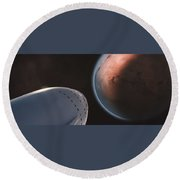 Interplanetary Transport System 4 Round Beach Towel