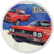 Lancia Beta 1300 Round Beach Towel